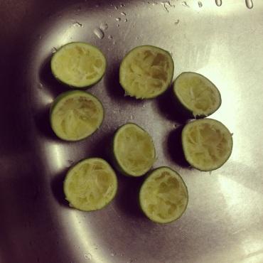 Making of lime posset.